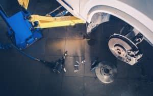 Brakes taken apart