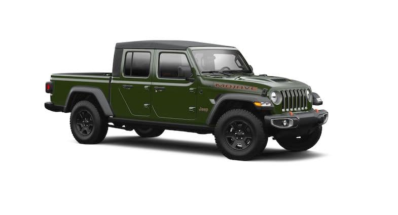 2021 Jeep Gladiator Sarge Green paint color