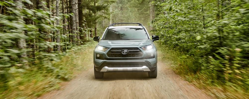 2020 Toyota RAV4 on a dirt road