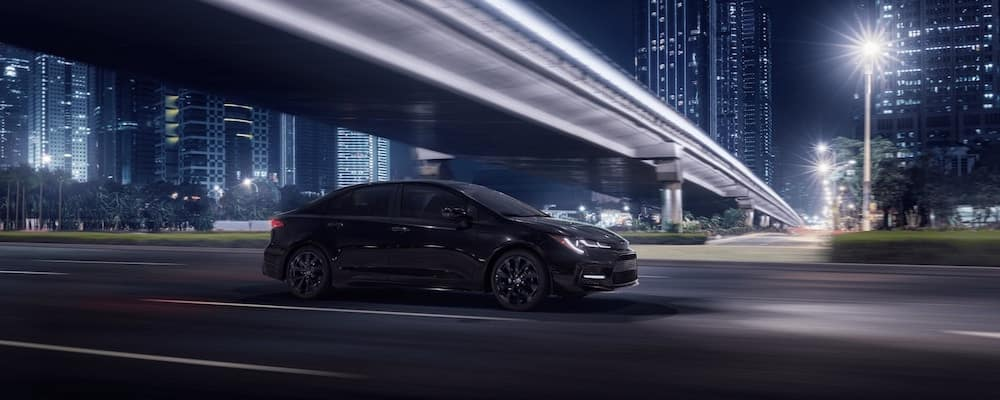 2020 Toyota Corolla driving at night