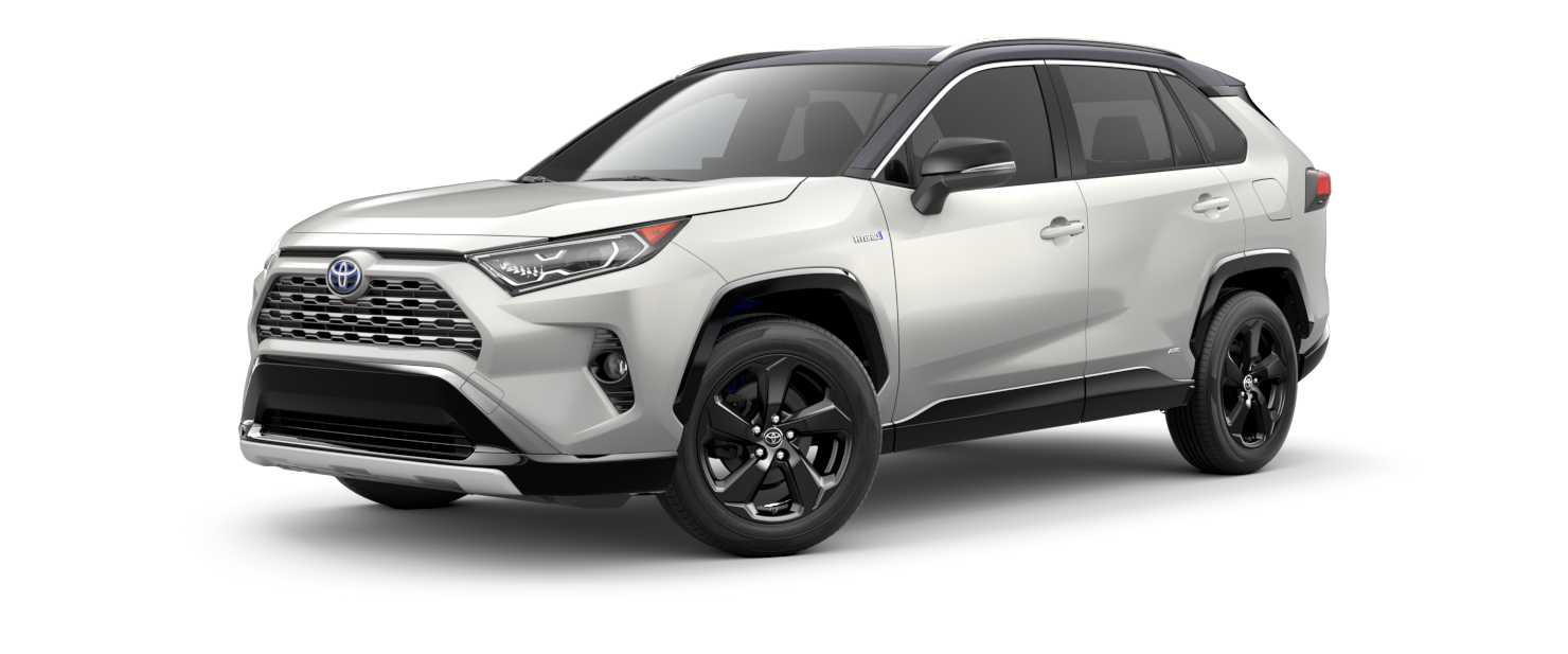 2021 Toyota RAV4 in Blizzard Pearl With Midnight Black Metallic Roof