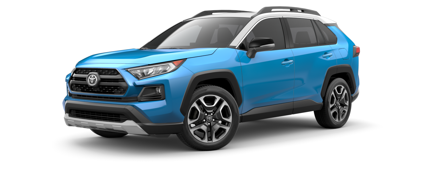 2021 Toyota RAV4 in Blue Flame with Ice Edge Roof