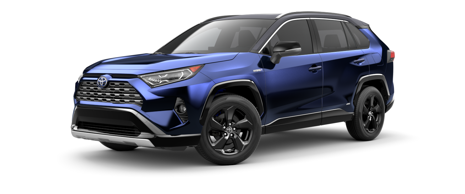2021 Toyota RAV4 in Blueprint with Midnight Black Metallic Roof