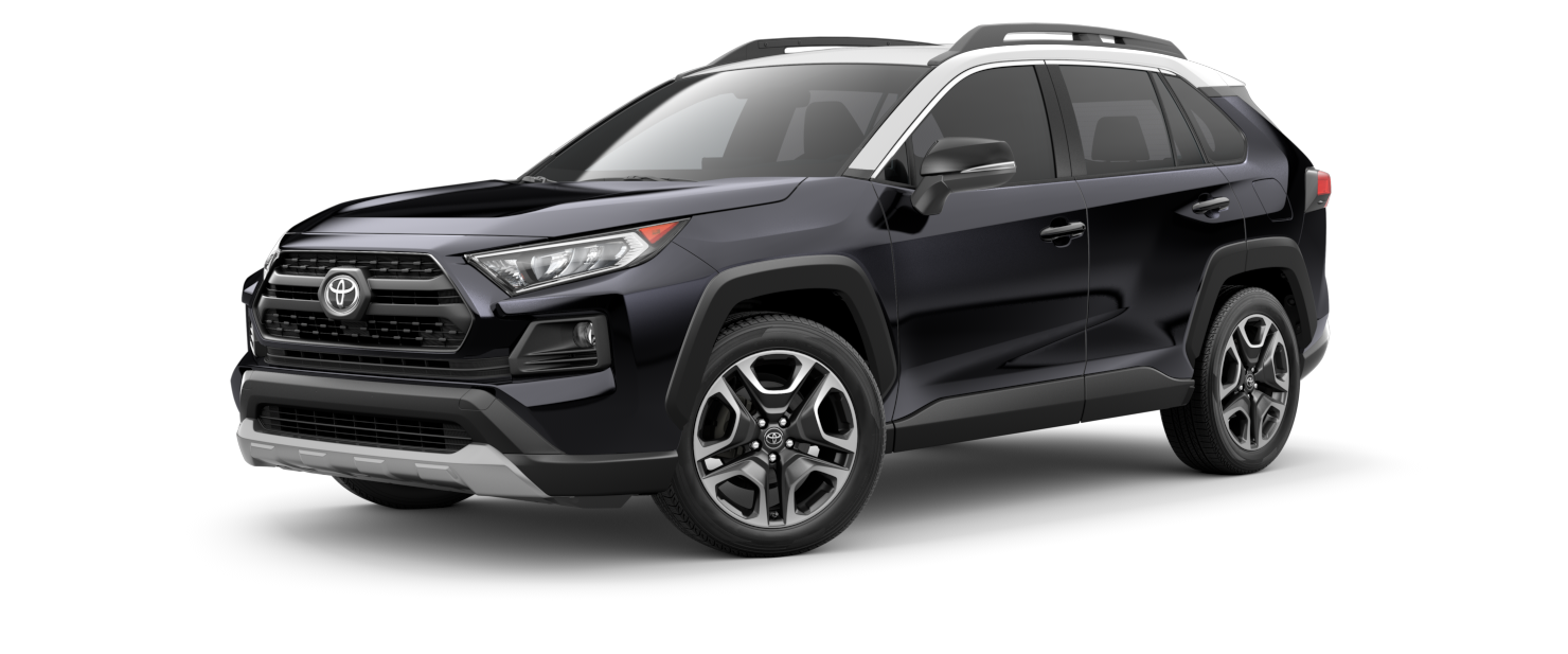 2021 Toyota RAV4 in Midnight Black Metallic with Ice Edge Roof