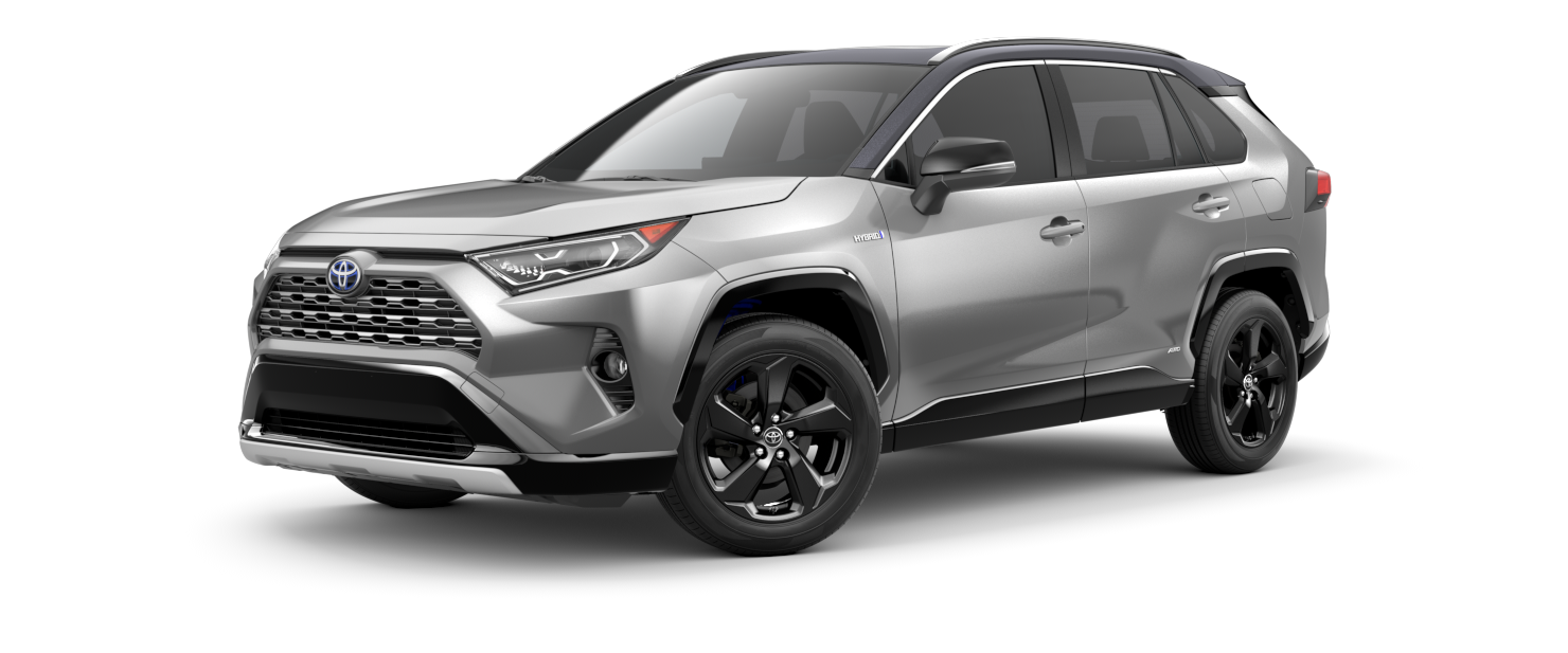 2021 Toyota RAV4 in Silver Sky Metallic with Midnight Black Metallic Rood
