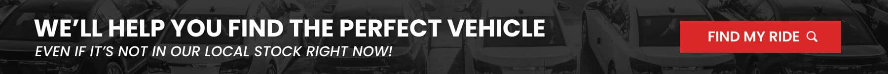 We will help you find the perfect vehicle