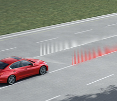 LANE DEPARTURE PREVENTION AND ACTIVE LANE CONTROL IT HELPS KEEP YOU ON THE STRAIGHT, AND THE NARROW