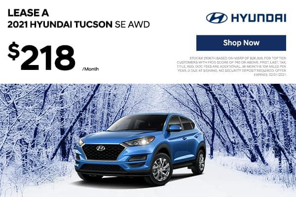 Lease a 2021 Hyundai Tucson SE AWD