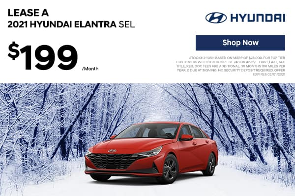 Lease a 2021 Hyundai Elantra SEL