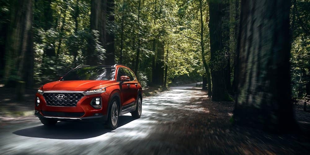 Orange 2020 Hyundai Santa Fe in Woods