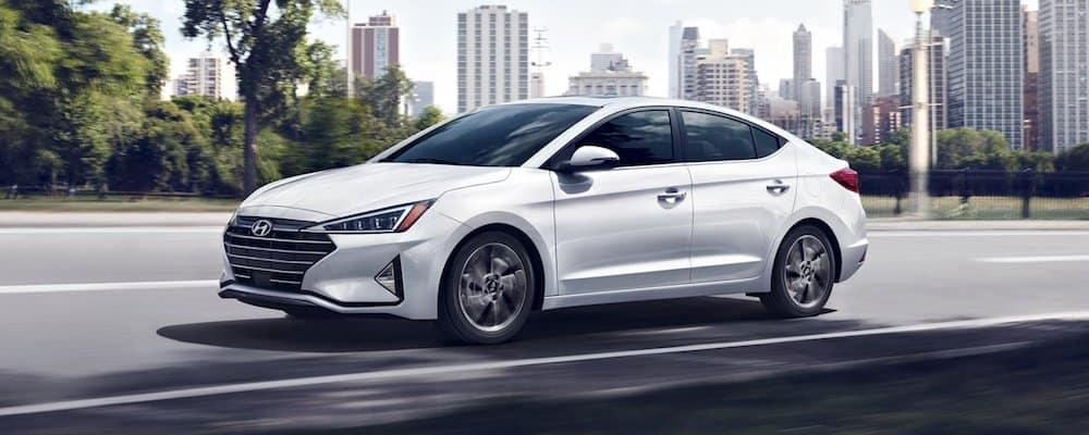 White 2020 Hyundai Elantra on City Road