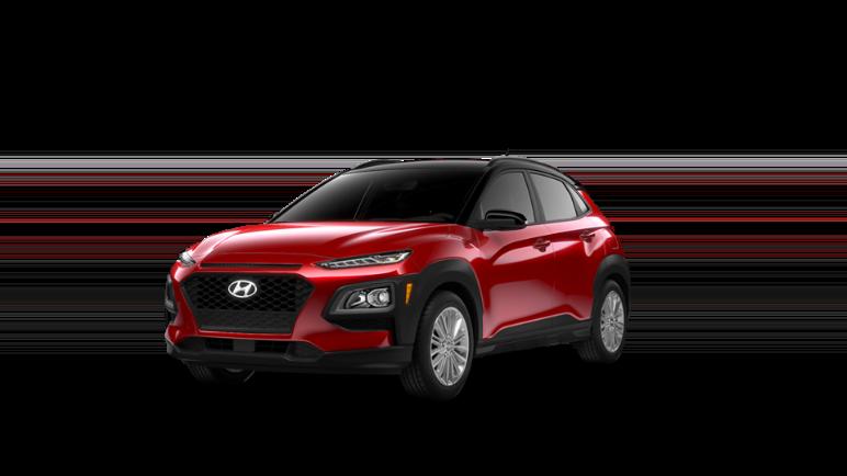 2021 Hyundai Kona Pulse Red Black Roof