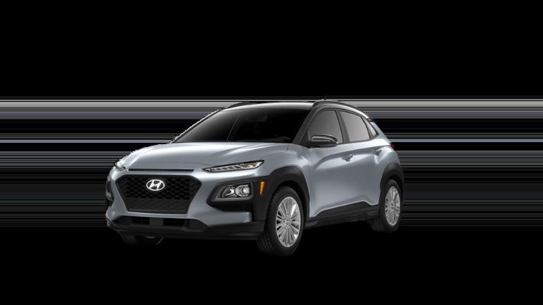 2021 Hyundai Kona Sonic Silver Black Roof
