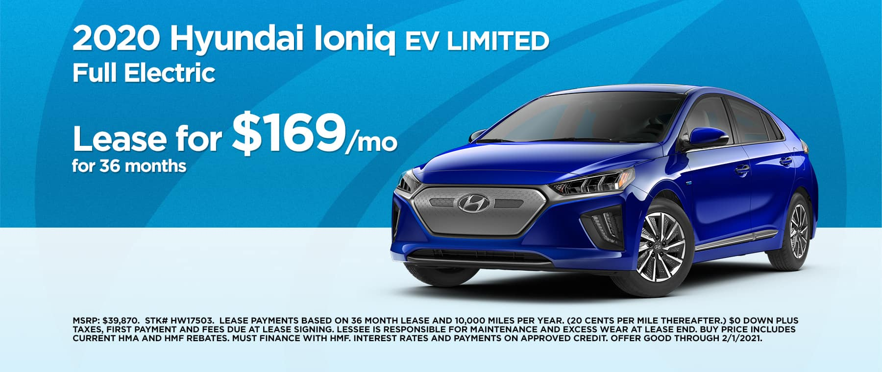 2101 Hyundai Ioniq EV