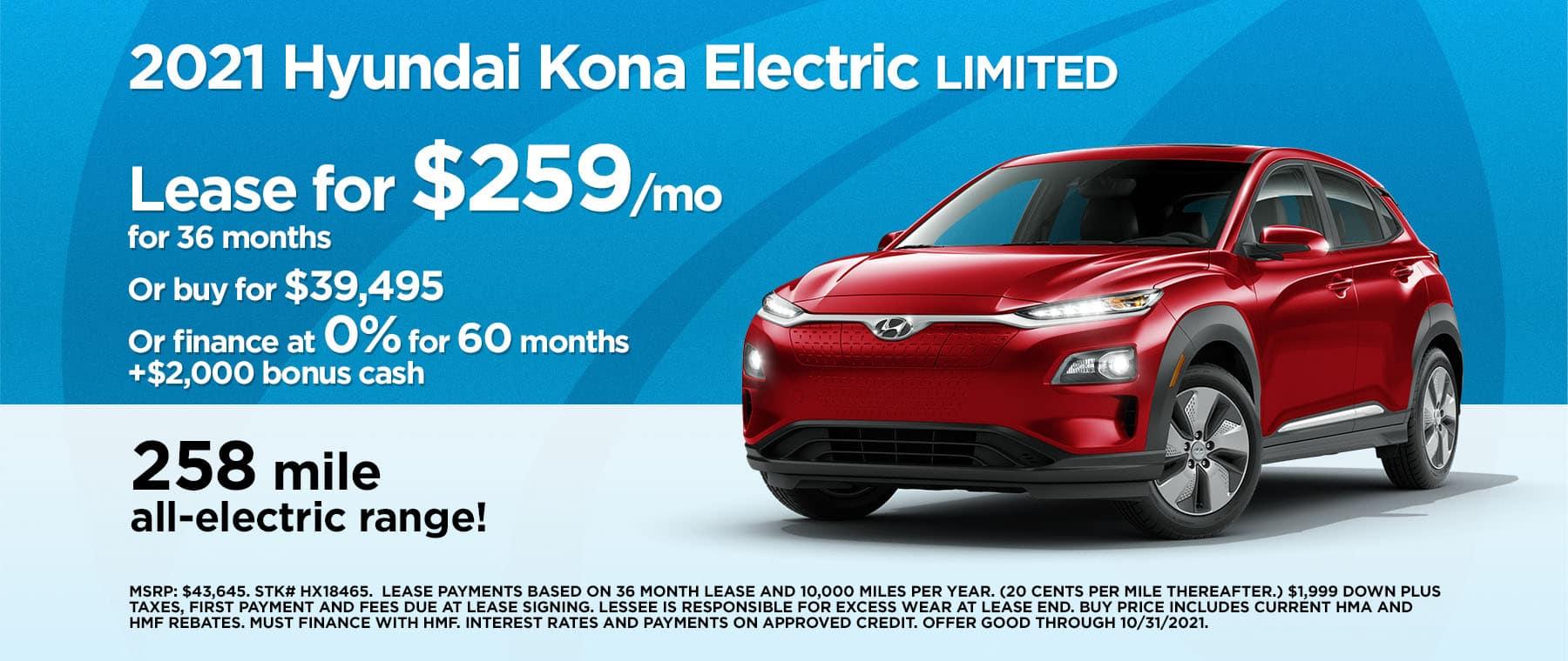 2110 Hyundai Kona Electric