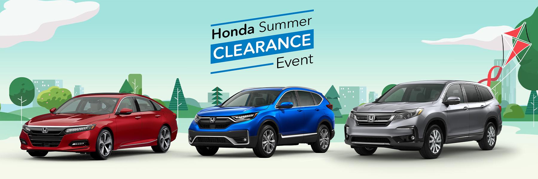 2020 Honda Summer Clearance