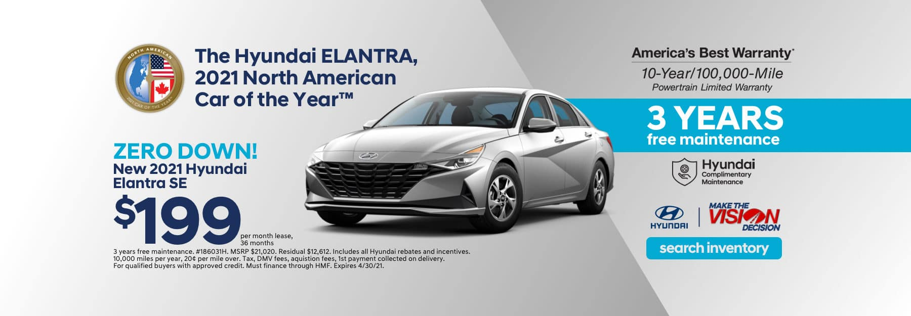 Elantra Showroom Lease Special Offer