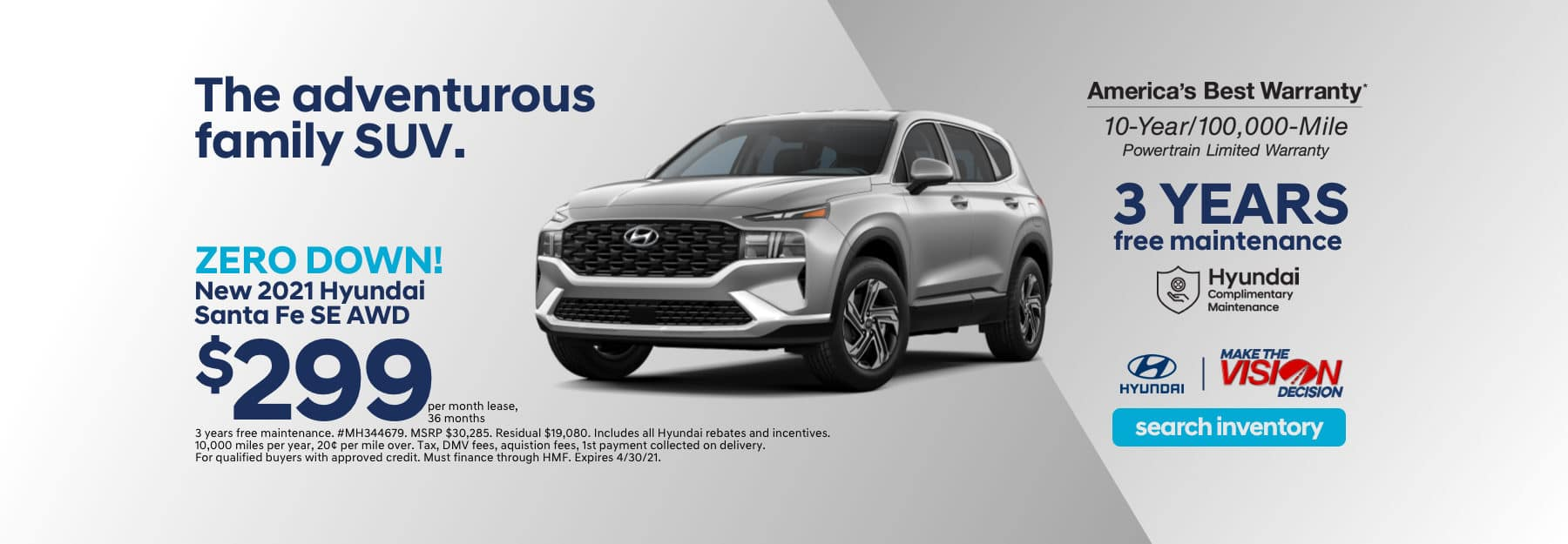 Santa Fe Showroom Special Lease Offer