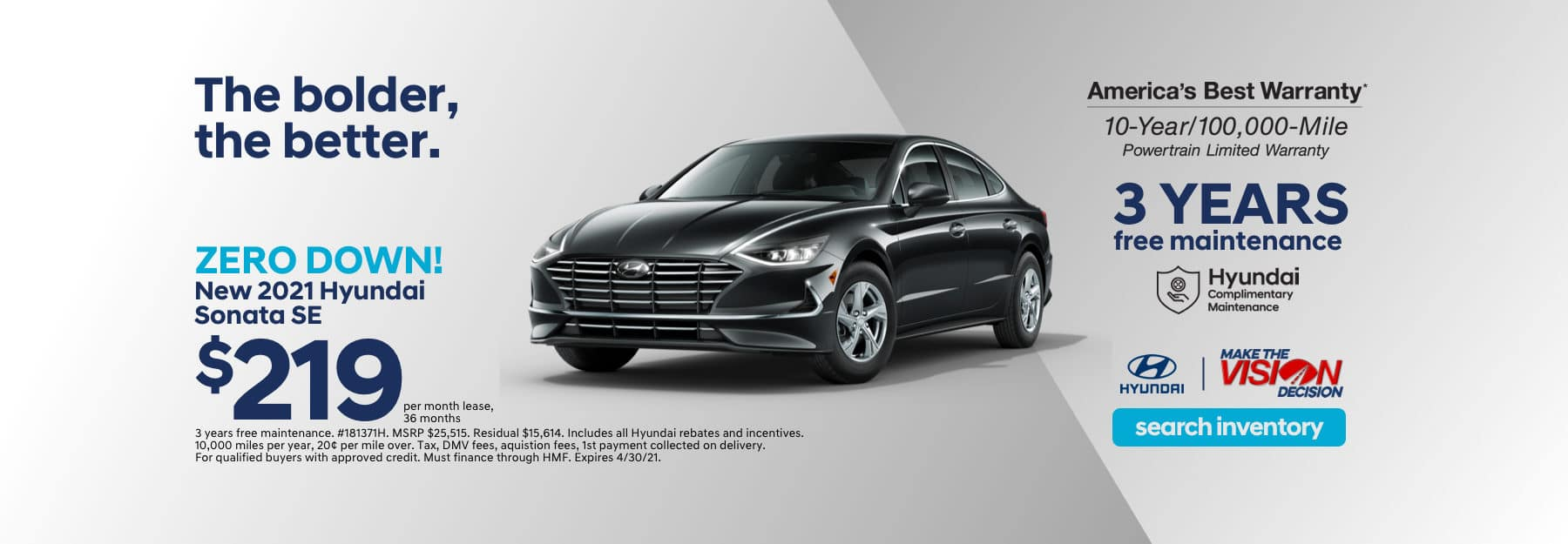 Sonata Showroom Special Lease Offer