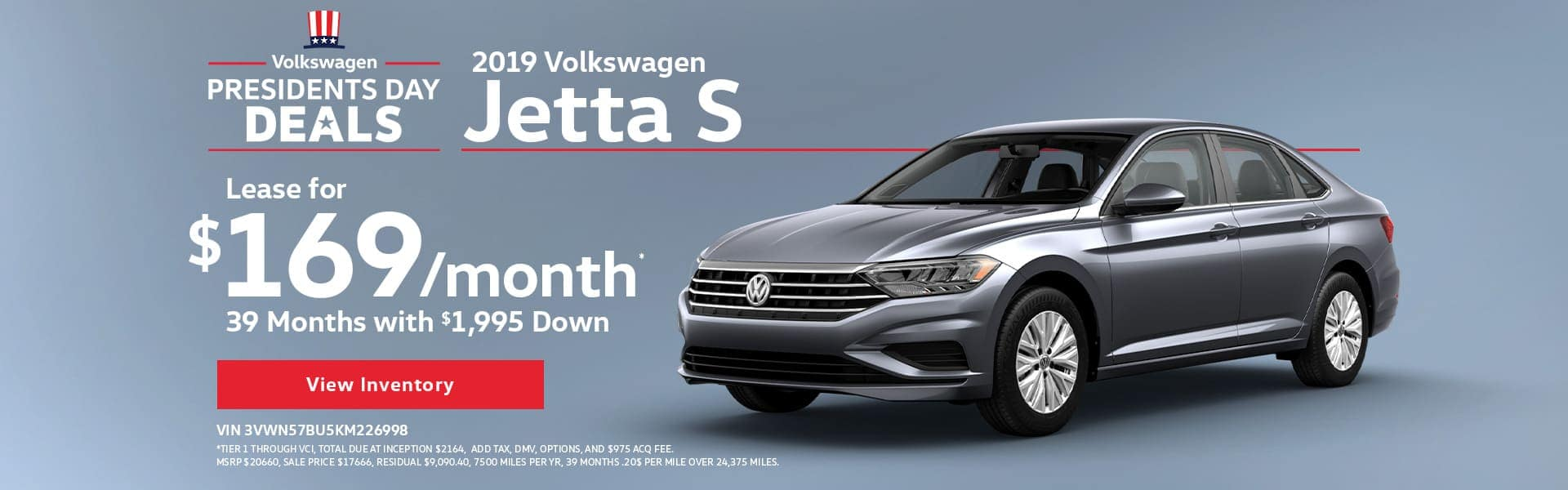 Presidents Day Deals - 2019 Volkswagen Jetta S