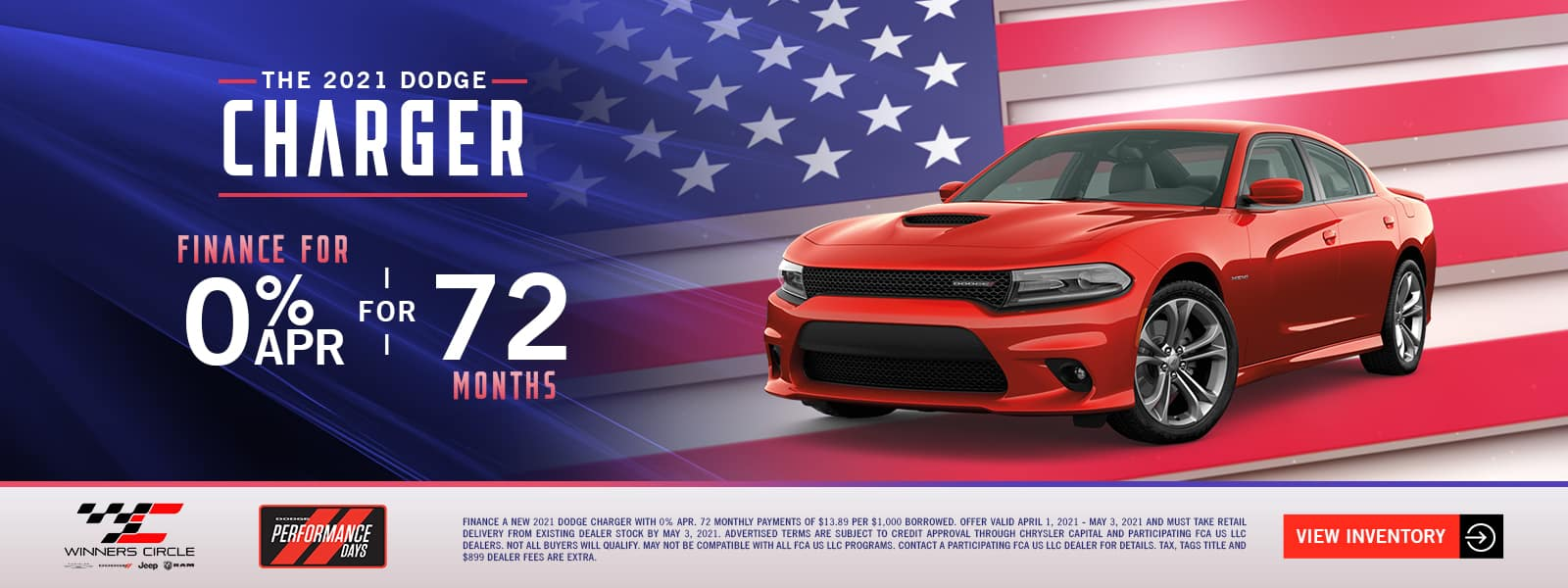 The 2021 Dodge Charger - finance for 0% APR for 72 months